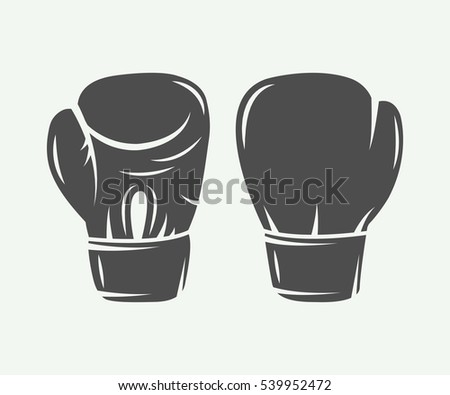 boxing gloves in vintage style
