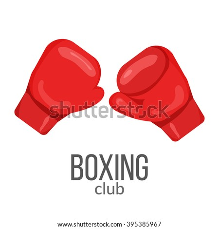 boxing gloves red icon isolated