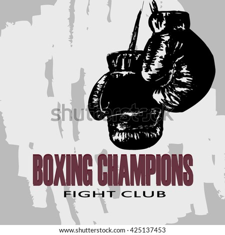 boxing gloves the poster for