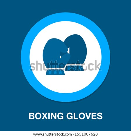 boxing gloves. vector boxing gloves, boxing icon, punch symbol, fight