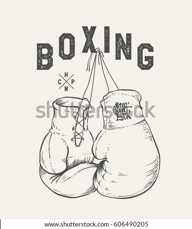 boxing gloves vector...