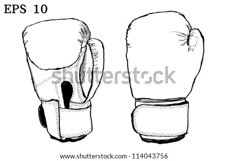 Boxing gloves with Vector EPS 10
