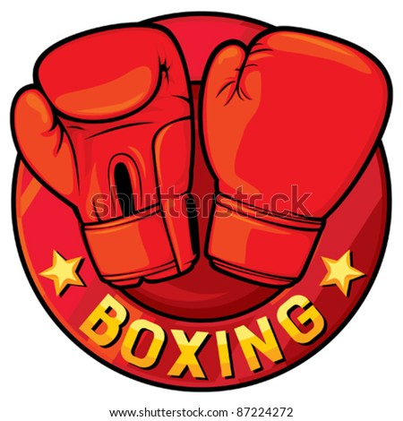 boxing label (boxing symbol, boxing design) - stock vector
