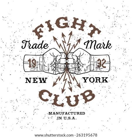 boxing monochrome vector label