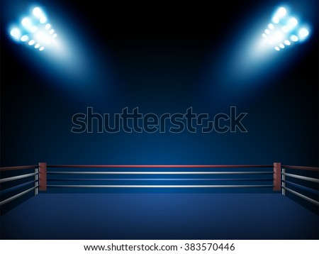 boxing ring and floodlights