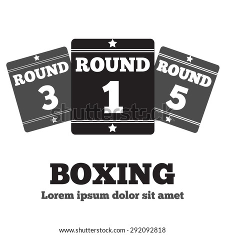 boxing ring board round one