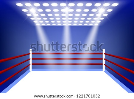boxing ring surrounded by a