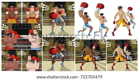 boxing scenes Zdjęcia stock ©