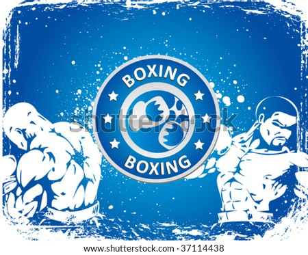 boxing sign on grunge background