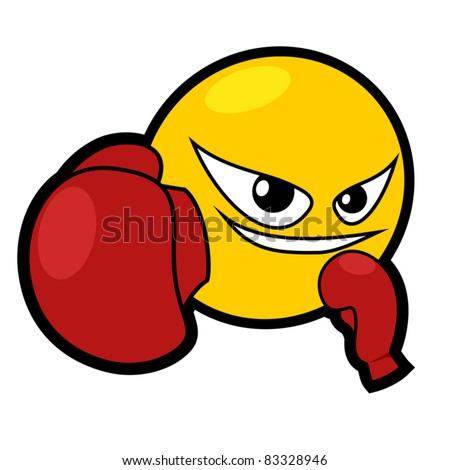 Punch Emoticons http://www.shutterstock.com/pic-83328946/stock-vector-boxing-smiley-face-icon.html
