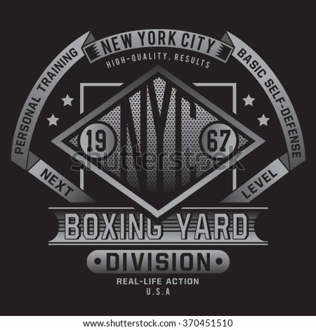 boxing sport typography  t