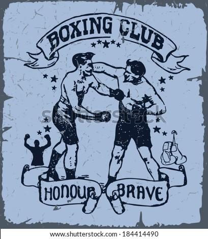 boxing t shirt print