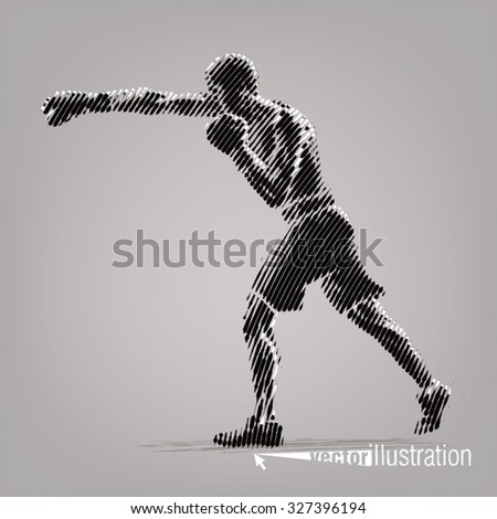 boxing vector artwork in the