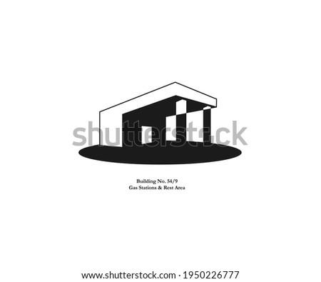 boxy building minimal vector