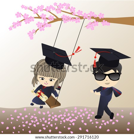 boy and girl graduation and
