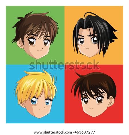 boy anime male manga cartoon