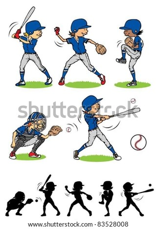 Boy baseball character