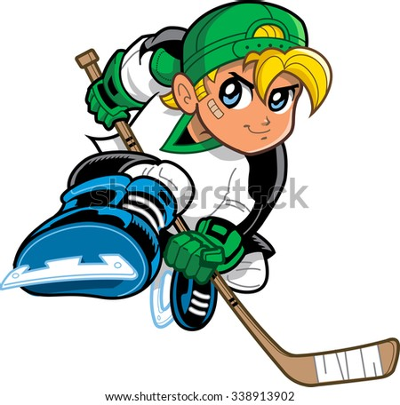 boy hockey player anime and