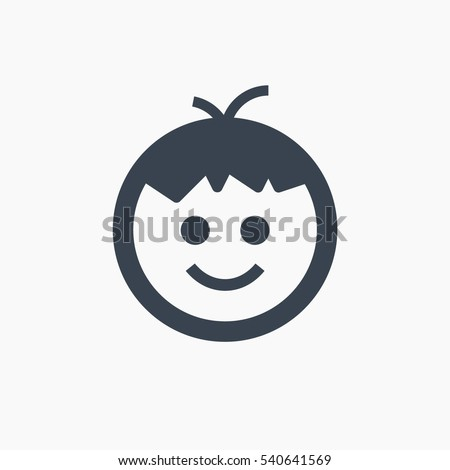 boy isolated minimal icon