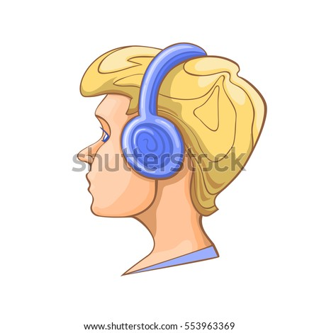 boy listening to music on