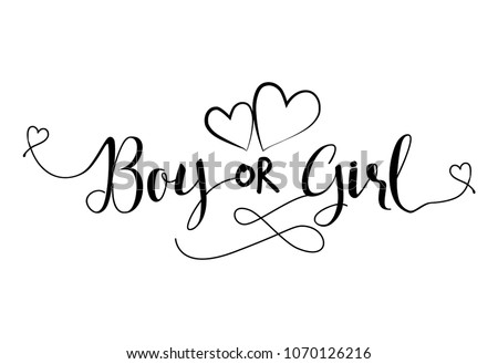boy od girl pregnant vector illustration typography illustration for pregnants good