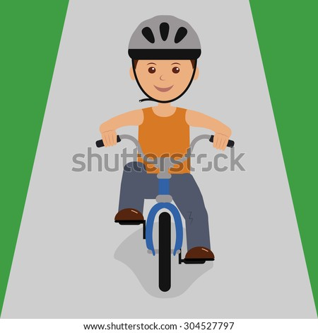 boy on a bicycle to roll