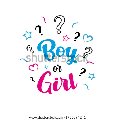 boy or girl gender reveal party  Photo stock ©