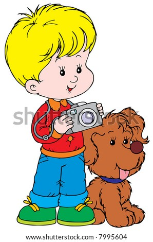 Boy Photographer and his pup