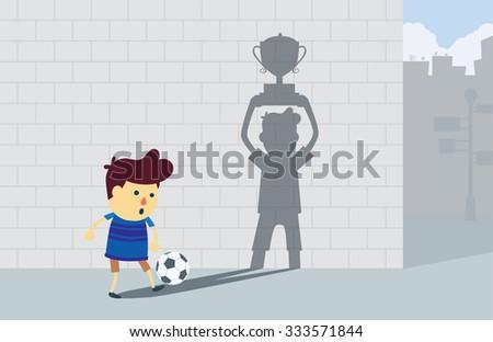 boy play football at corner