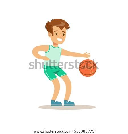 boy playing basketball kid