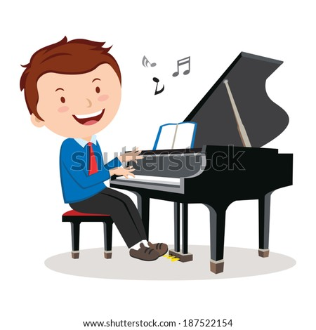 boy playing piano pianist