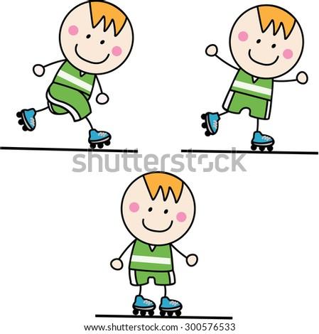 boy playing roller blade