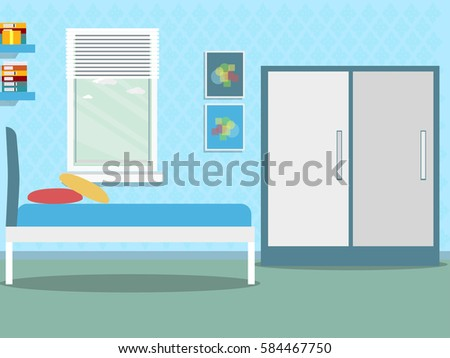 boy room with window with