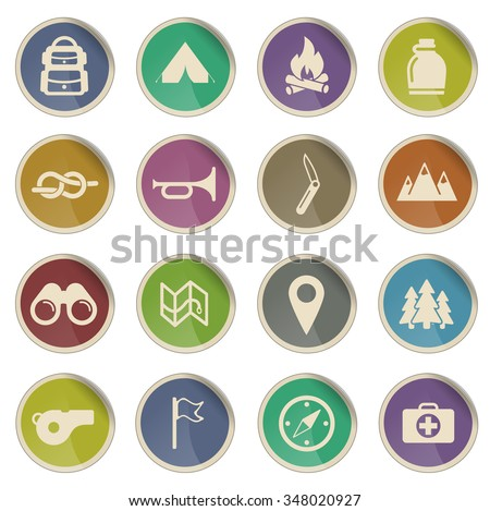 boy scout label icons for web