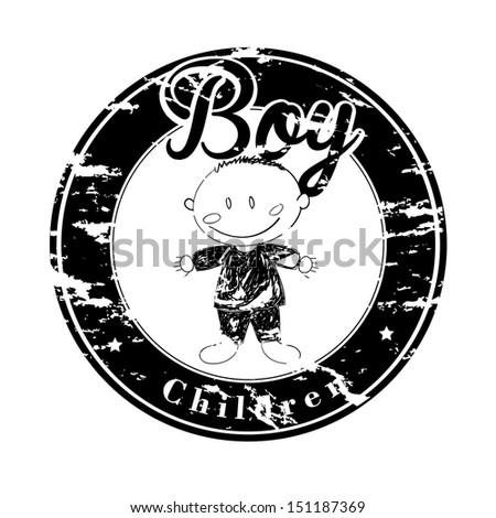 boy seal over white background vector illustration