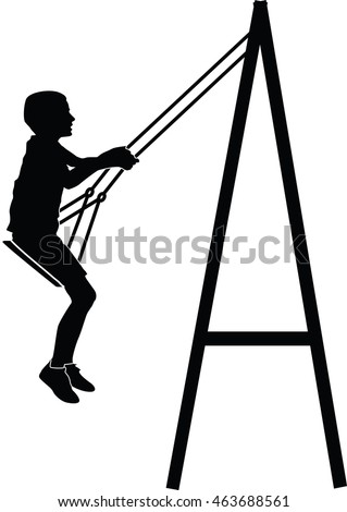 stock-vector-boy-swinging-on-a-swing-vector-silhouette-illustration