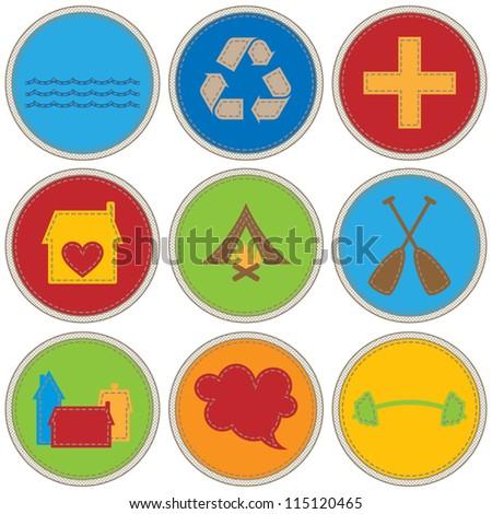 Boy Themed Merit Badges