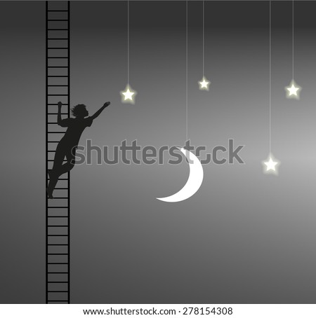 boy trying to take the star