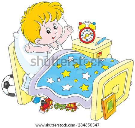 Boy waking up Stock photo ©