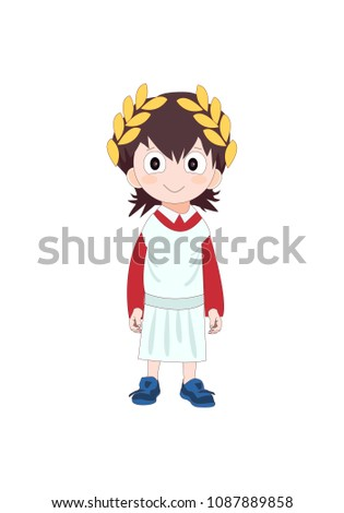 boy wearing ancient rome