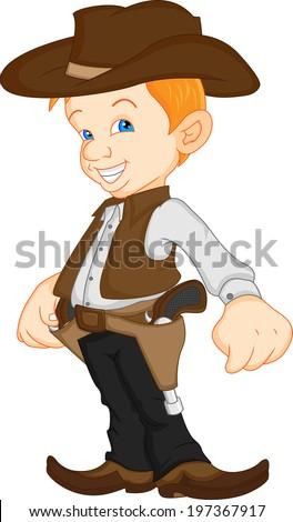 boy wearing western cowboy