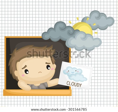 boy with cloudy cloud