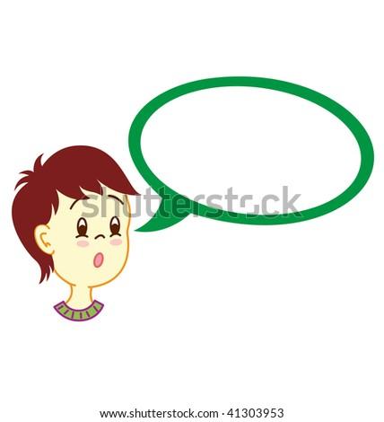 Boy With Dialog Balloon D