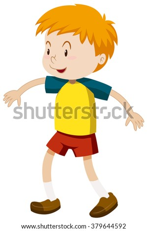 Boy with happy face illustration