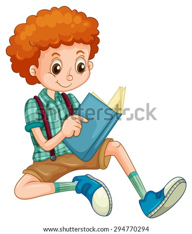 stock-vector-boy-with-red-curly-hair-reading-a-book