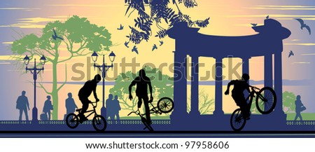 boys on bicycles on the