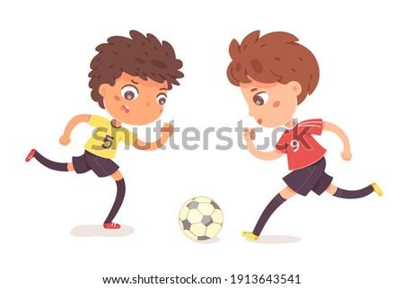 boys playing football together