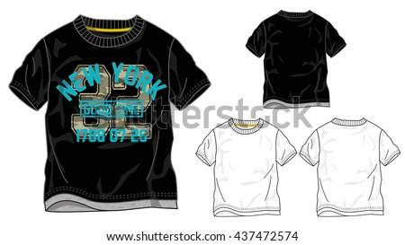 boys t shirt templates   vector