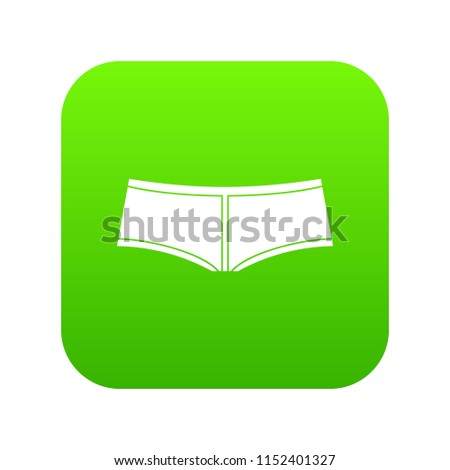 Boyshorts icon digital green for any design isolated on white vector illustration