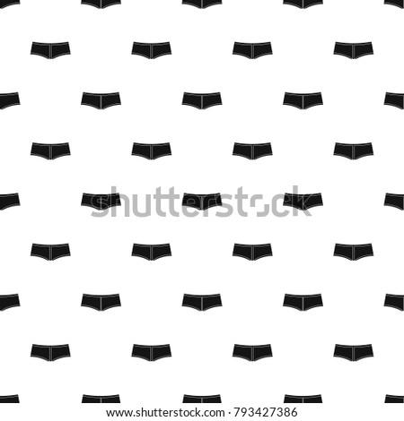 Boyshorts pattern seamless in simple style vector illustration